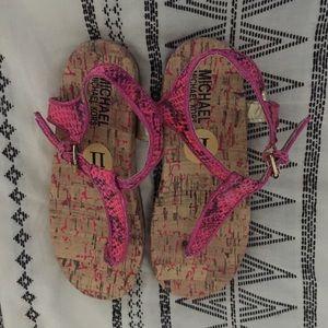 Michael Kors size 11 pink sandals